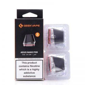 GeekVape Aegis Nano Replacement Pod Cartridge – 2 Pcs Accessories 2